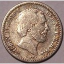 Netherlands Silver 10 cent 1890 Willem III 1849-1890