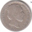 Netherlands Silver 10 cent 1871 Willem III 1849-1890