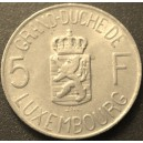 LUXEMBOURG 5 FRANC CHARLOTTE 1962