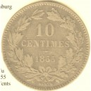 LUXEMBOURG  10 centimes 1855